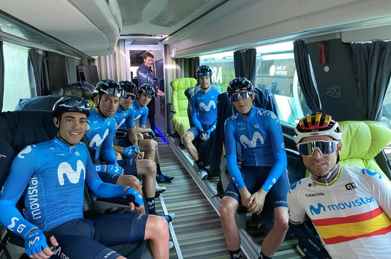 Imagen de la noticia Full-speed debut for Movistar Team on European soil