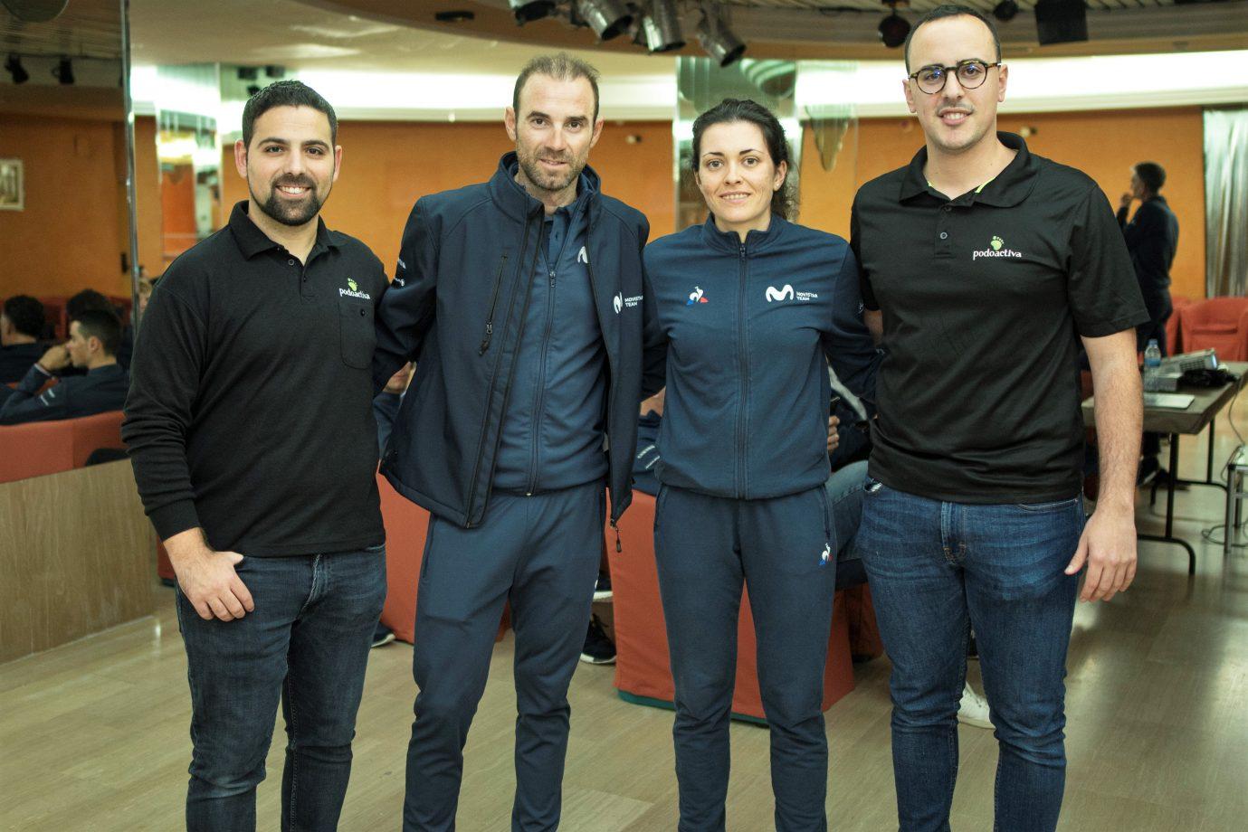 News' image'Podoactiva se sube a la bici del Movistar Team'