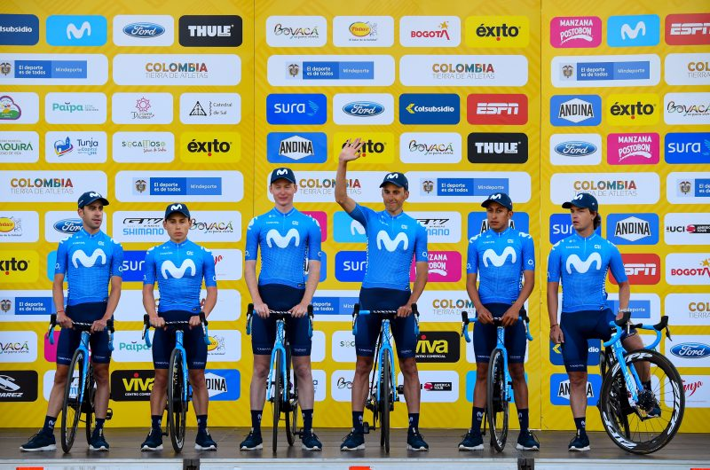 Imagen de la noticia 'Movistar Team enjoying local crowds before 2020 Tour Colombia'