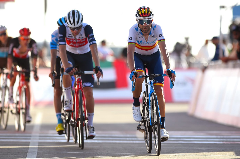 Imagen de la noticia Tough finish for Valverde, Movistar Team at Jebel Hafeet