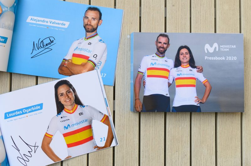 Imagen de la noticia 'Win one of our ten 2020 Pressbooks – signed by Alejandro Valverde and Lourdes Oyarbide!'