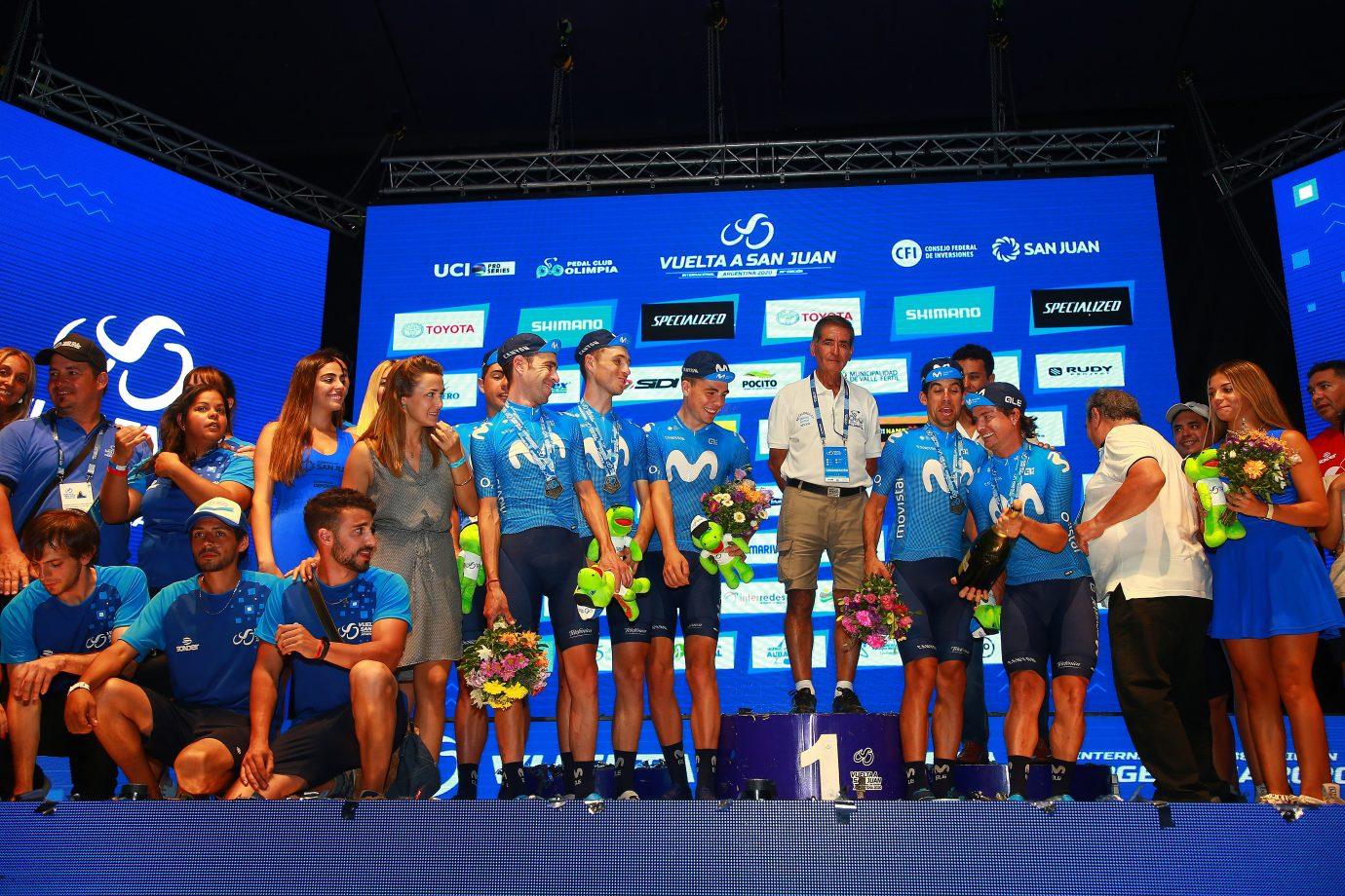 Imagen de la noticia 'Movistar Team on final podium of Vuelta a San Juan'
