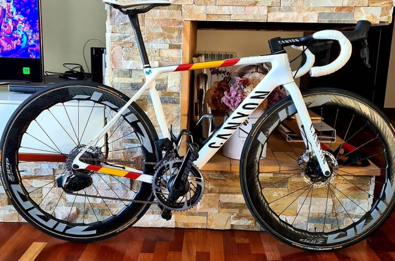 Imagen de la noticia 'Alejandro Valverde shows his new Canyon bike as Spanish road race champion'