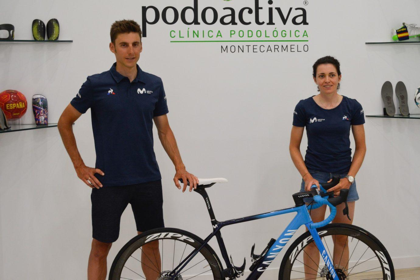 News' image'Movistar Team afina su puesta a punto en la nueva sala de tecnología ciclista de Podoactiva'