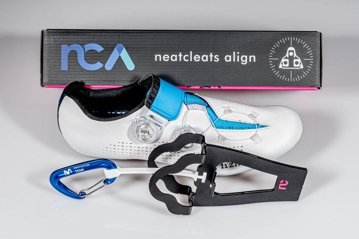Imagen de la noticia 'NeatCleats to keep Movistar Team's equipment tidier and cleaner'