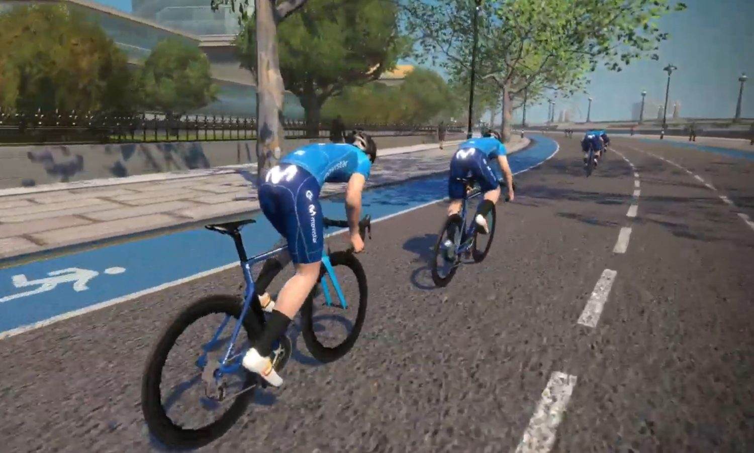 Imagen de la noticia 'Movistar Team gathers final support from Zwift community at 'Restart Ride' before return to racing'