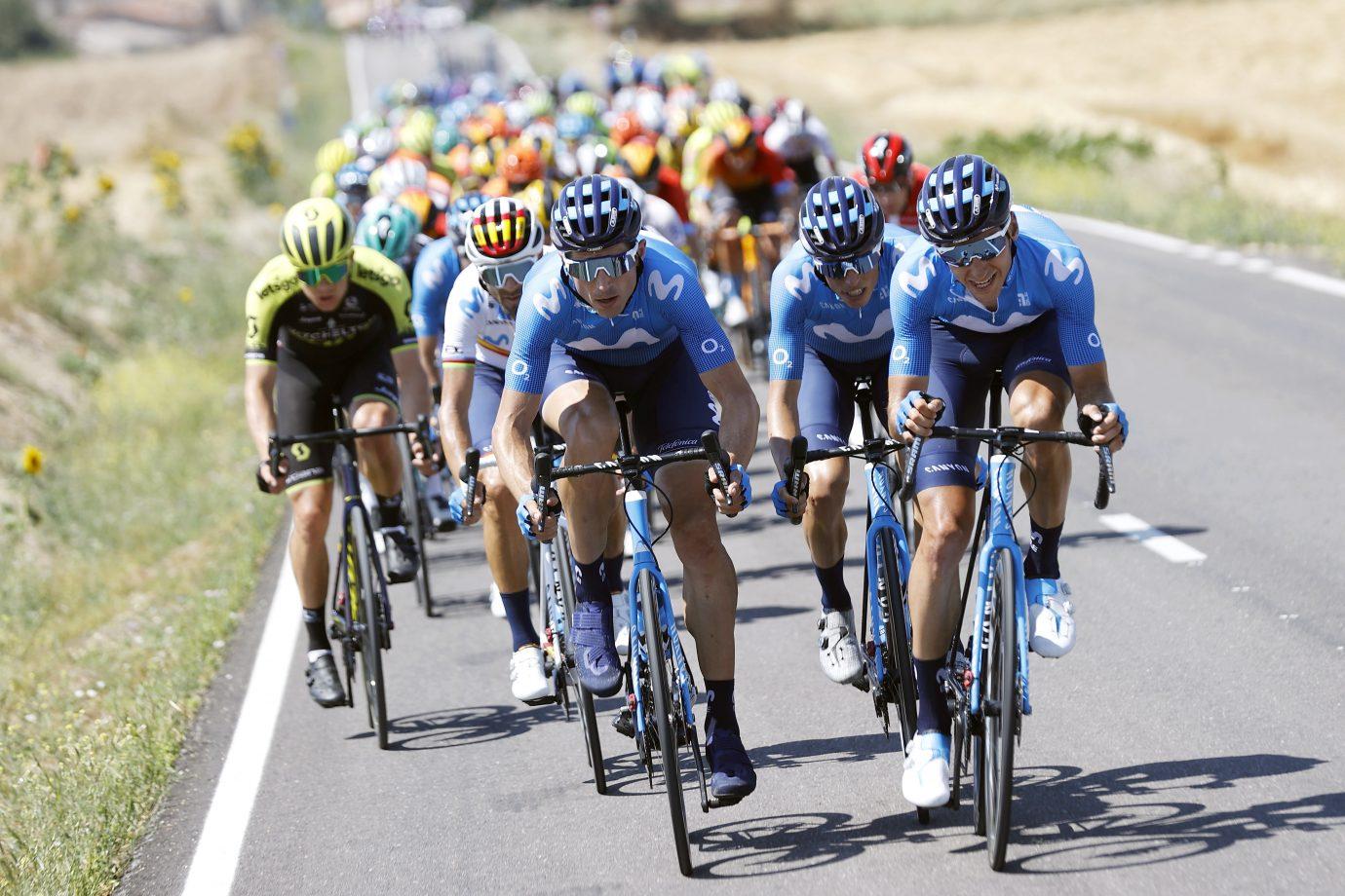 News' image'Valverde, 3º para abrir el regreso de Movistar Team en Burgos'