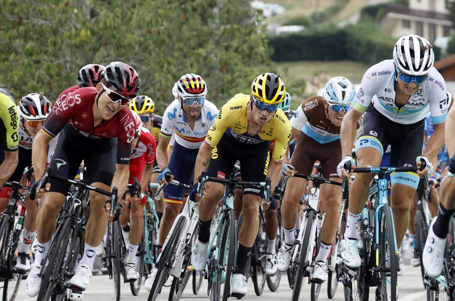 News' image'Valverde, 4º en el arranque de Dauphiné'