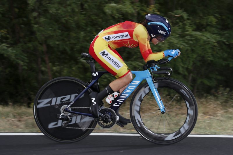 Imagen de la noticia 'Oyarbide (37th at ITT) opens Imola Worlds for Movistar Team'