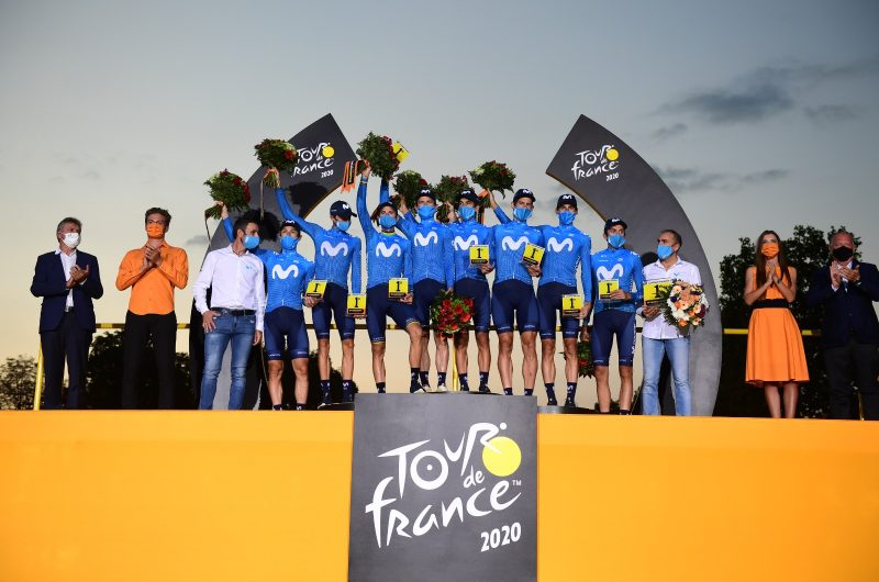 News' image'Movistar Team cumple expectativas en el Tour 2020'