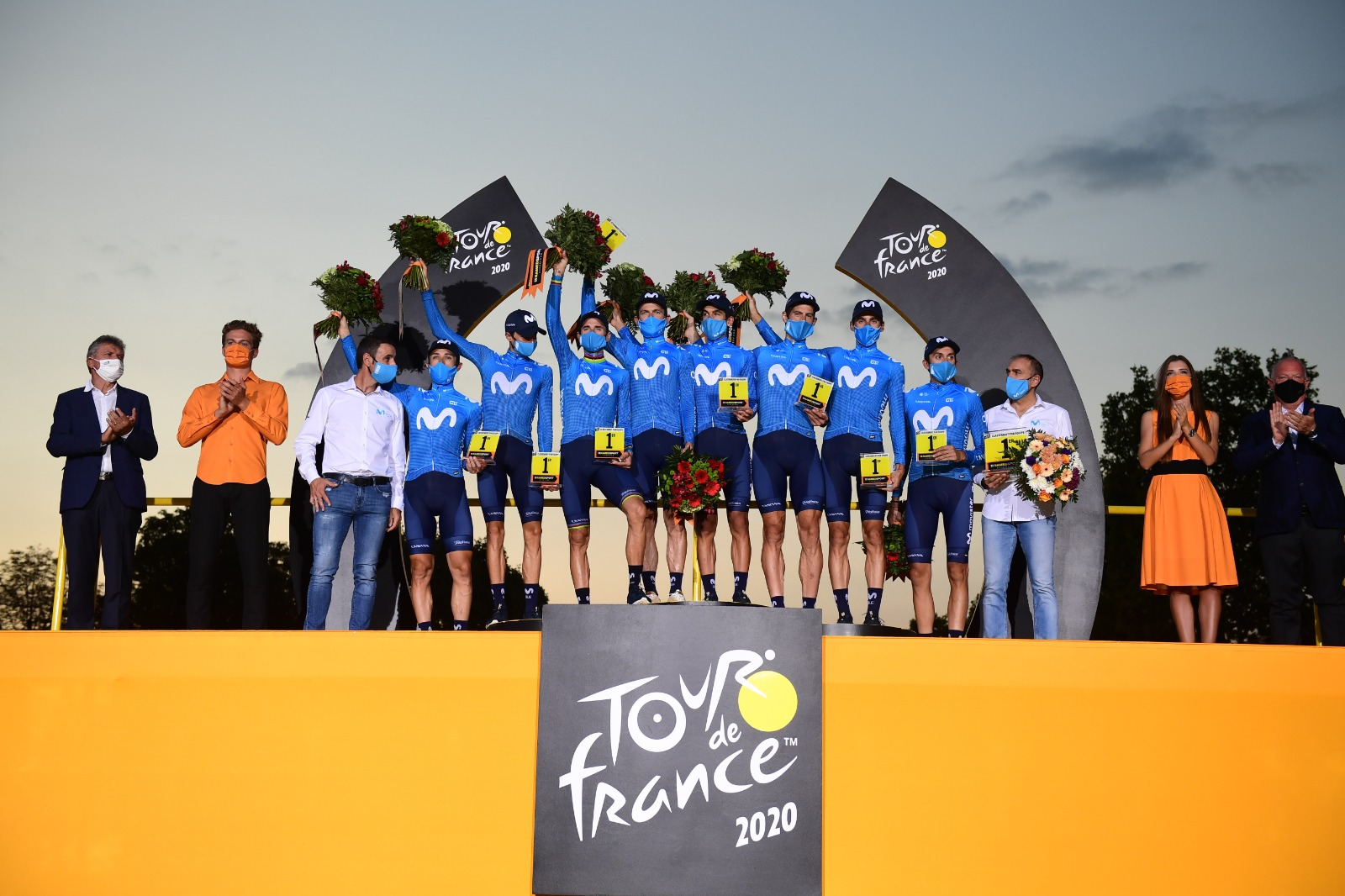 News' image'Movistar Team cumple expectativas en el Tour 2020'