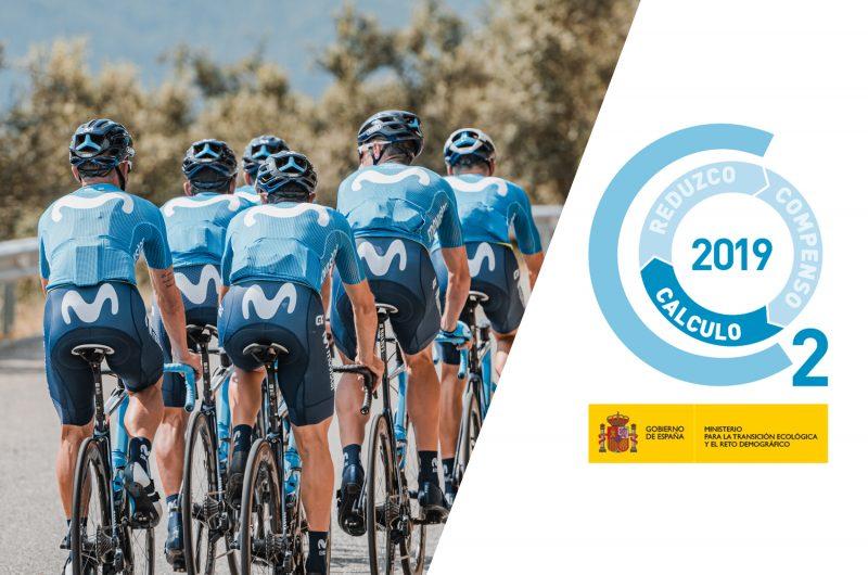 News' image'Movistar Team recibe el Sello del MITECO por sus esfuerzos en sostenibilidad'