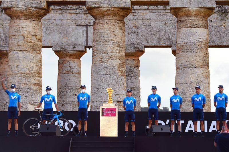 News' image'Movistar Team da sus primeros pasos en el Giro 2020'