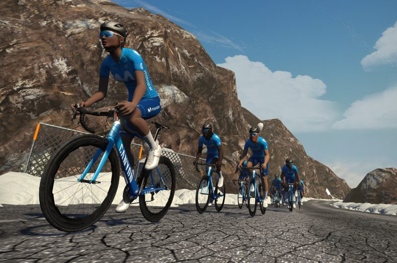 News' image'Movistar Team, en Zwift el sábado 5 de diciembre (16.00h) por la iniciativa benéfica World Bicycle Relief'