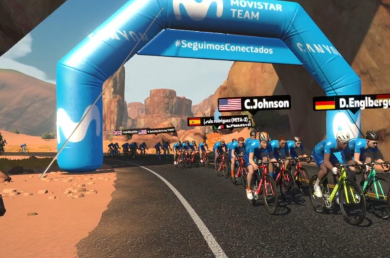Imagen de la noticia 'Movistar Team, Sergio Samitier gather 1,100 people on Zwift to call for riders' safety'