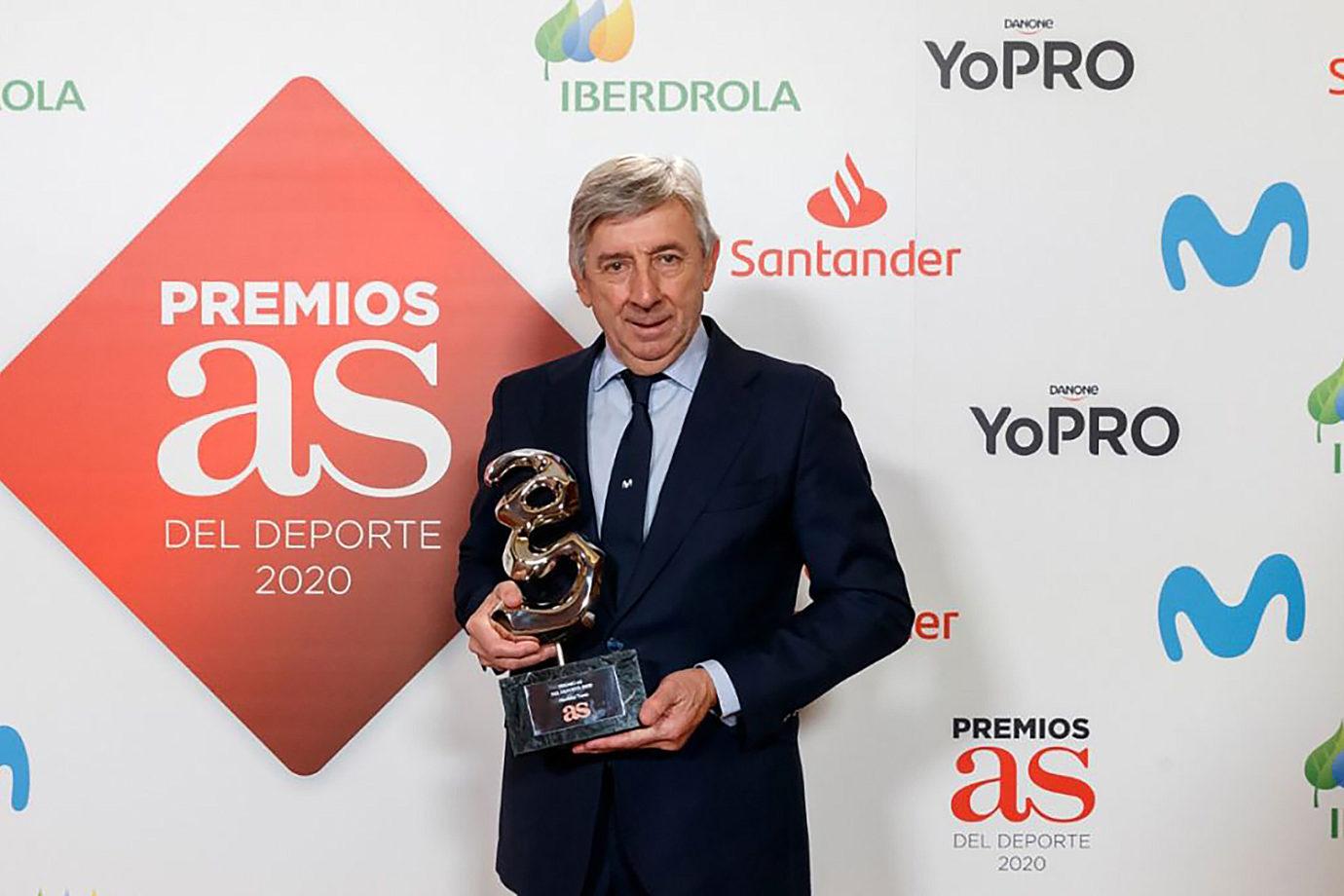 News' image'El Diario AS reconoce la trayectoria de Movistar Team'