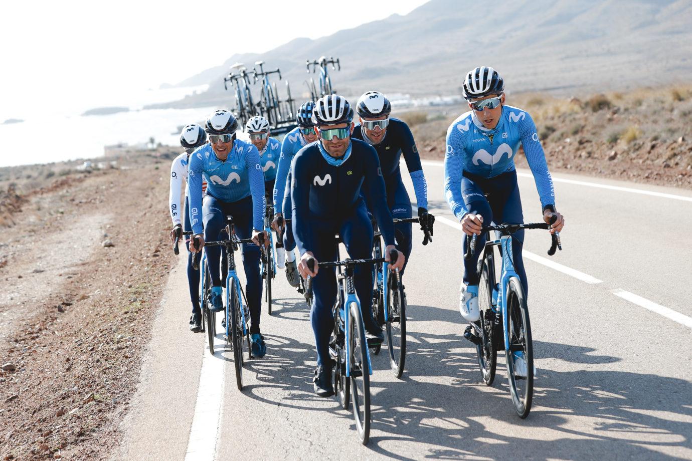 Imagen de la noticia 'Movistar Team enjoying the early days of its Almería training camp'