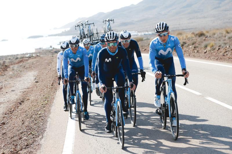 News' image'Movistar Team disfruta sus primeros días en Almería'