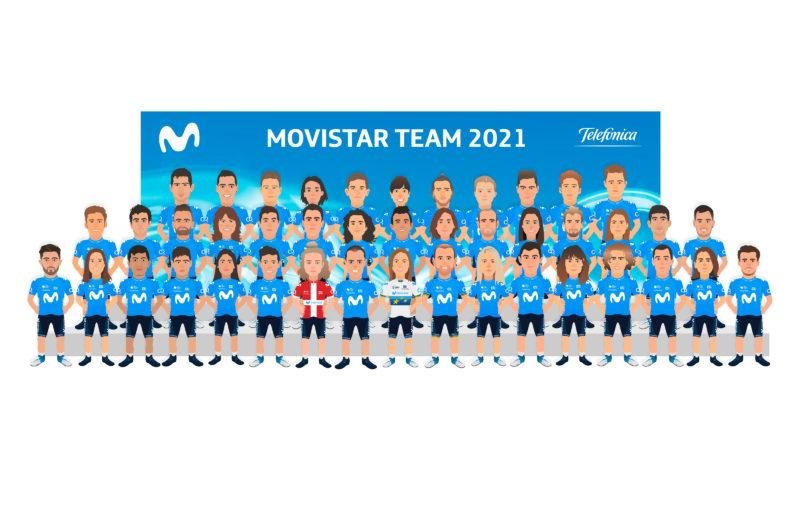 News' image'Movistar Team continúa en 2021 su camino de esperanza'