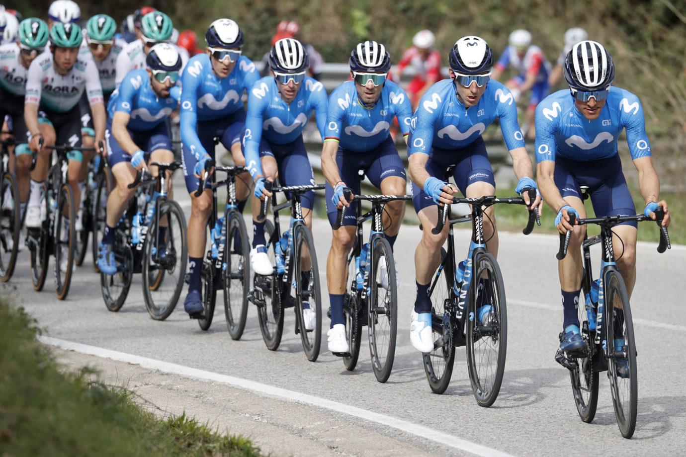News' image'Valverde, 8º en Calella tras el esfuerzo inicial de Movistar Team'