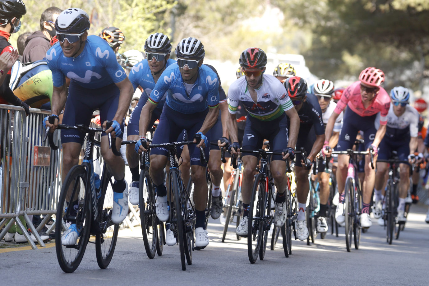 News' image'Valverde (4º) y Movistar Team pelean hasta el final en Montjuïc'