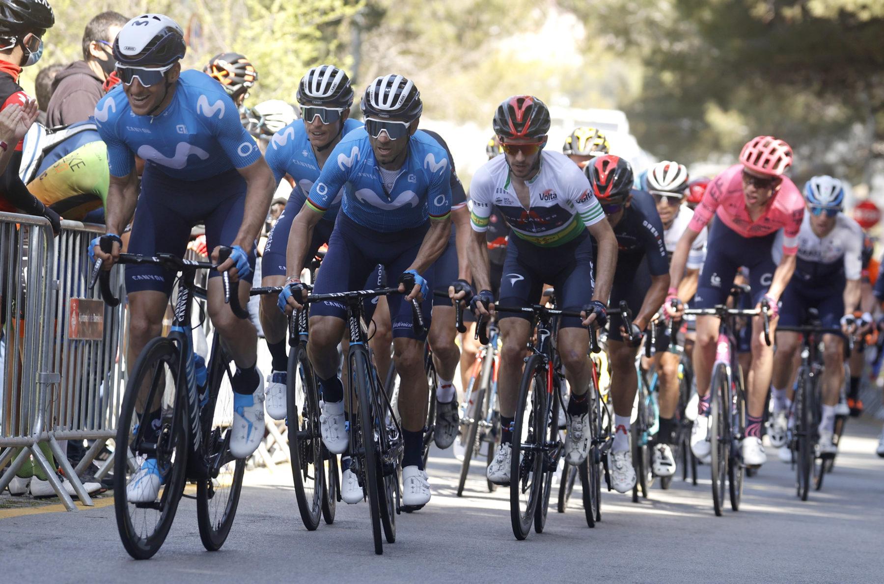 News' image'Valverde (4º) y Movistar Team pelean hasta el final en Montjuïc'