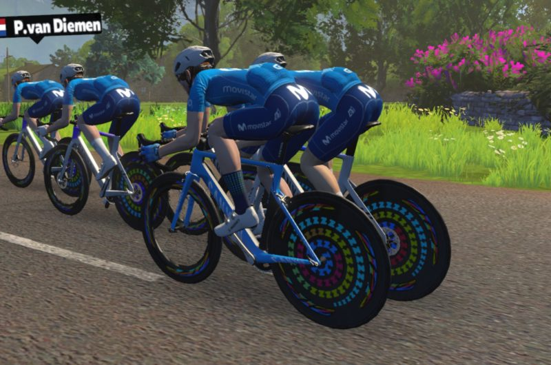 News' image'Un 5º y un 6º para abrir la trayectoria del Movistar eTeam en la Zwift Racing League'
