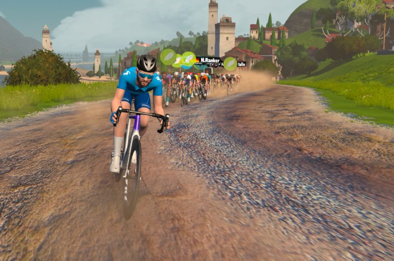 News' image'Los dos Movistar eTeam se suben al podio en la segunda cita de la Zwift Racing League'