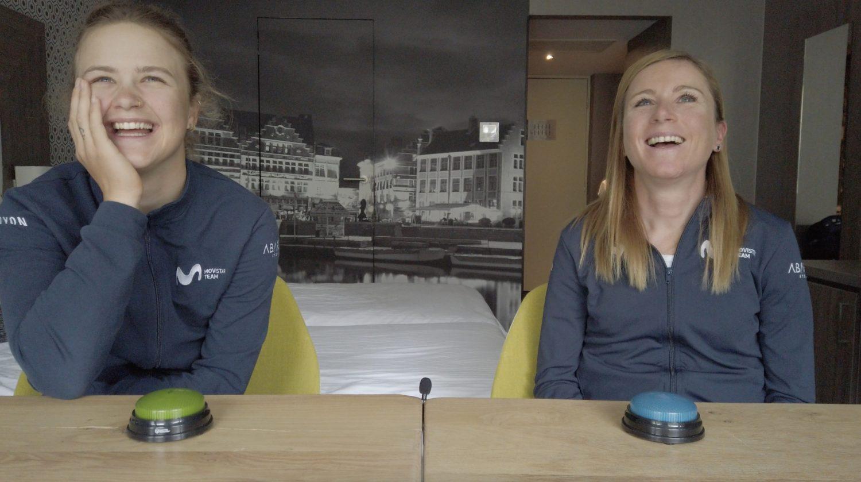News' image'Vuelven Los Pulsadores de Movistar Team: Emma Norsgaard vs. Annemiek van Vleuten'