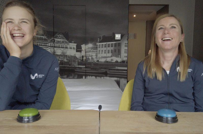 Imagen de la noticia 'Movistar Team Buzzers! Emma Norsgaard vs. Annemiek van Vleuten'