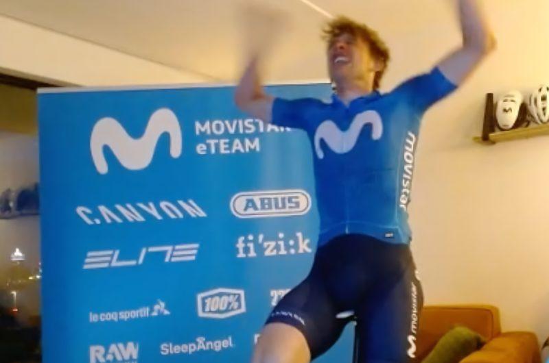 Imagen de la noticia 'Movistar eTeam on overall podium at end of Zwift Racing League's Season 3'