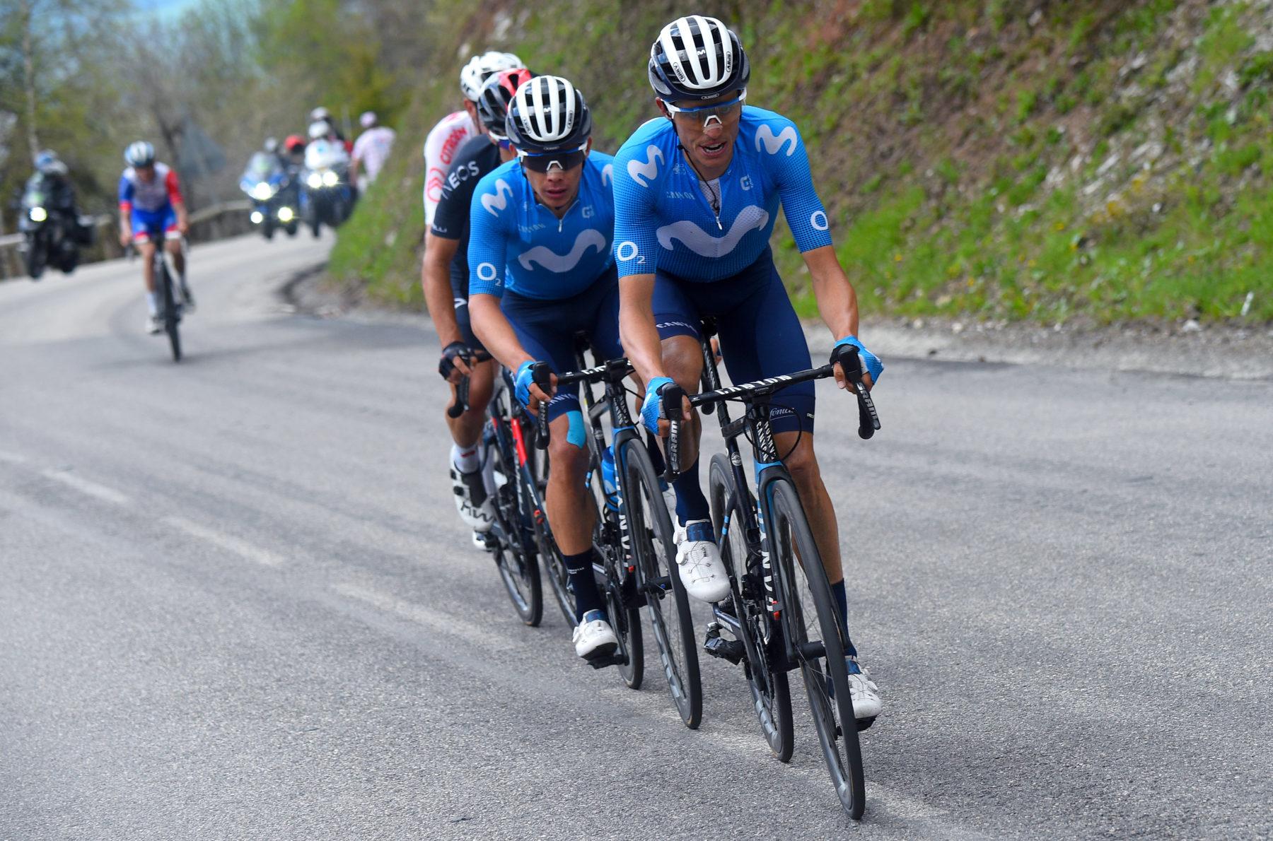 Imagen de la noticia 'López (3rd), Movistar Team show their best face at La Plagne finish'