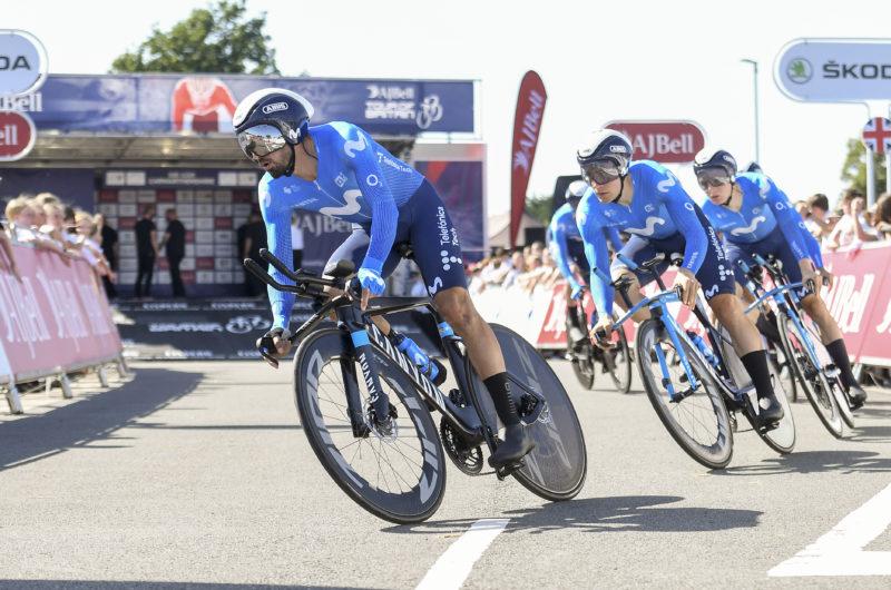 News' image'Movistar Team, 7ª plaza en la crono por equipos de Gales'