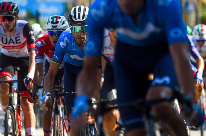 Imagen de la noticia 'Valverde remains safe towards Mondello; hill-top finish coming up on Thursday'