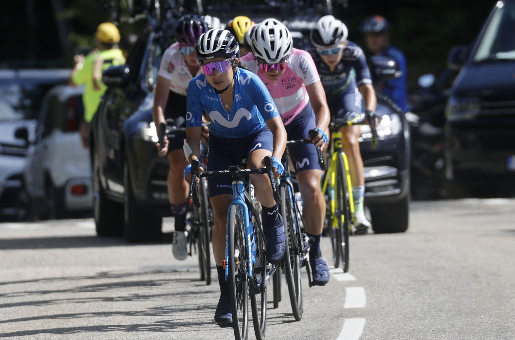 Imagen de la noticia 'Thomas -5th in Saint-Jean-en-Royans-, Movistar Team remain solid in Ardèche'