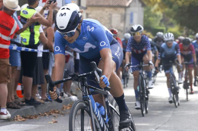 News' image'Sheyla Gutiérrez (3ª), buen sprint en el arranque de Ardèche'