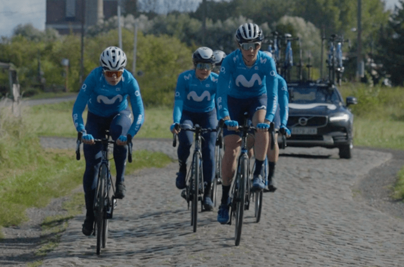 News' image'Movistar Team, protagonista de la serie de ciclismo femenino 'The Run Up' en Roubaix'