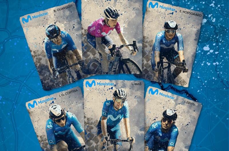 News' image'Movistar Team subasta sus maillots firmados de Roubaix para la reforestación en Navarra'